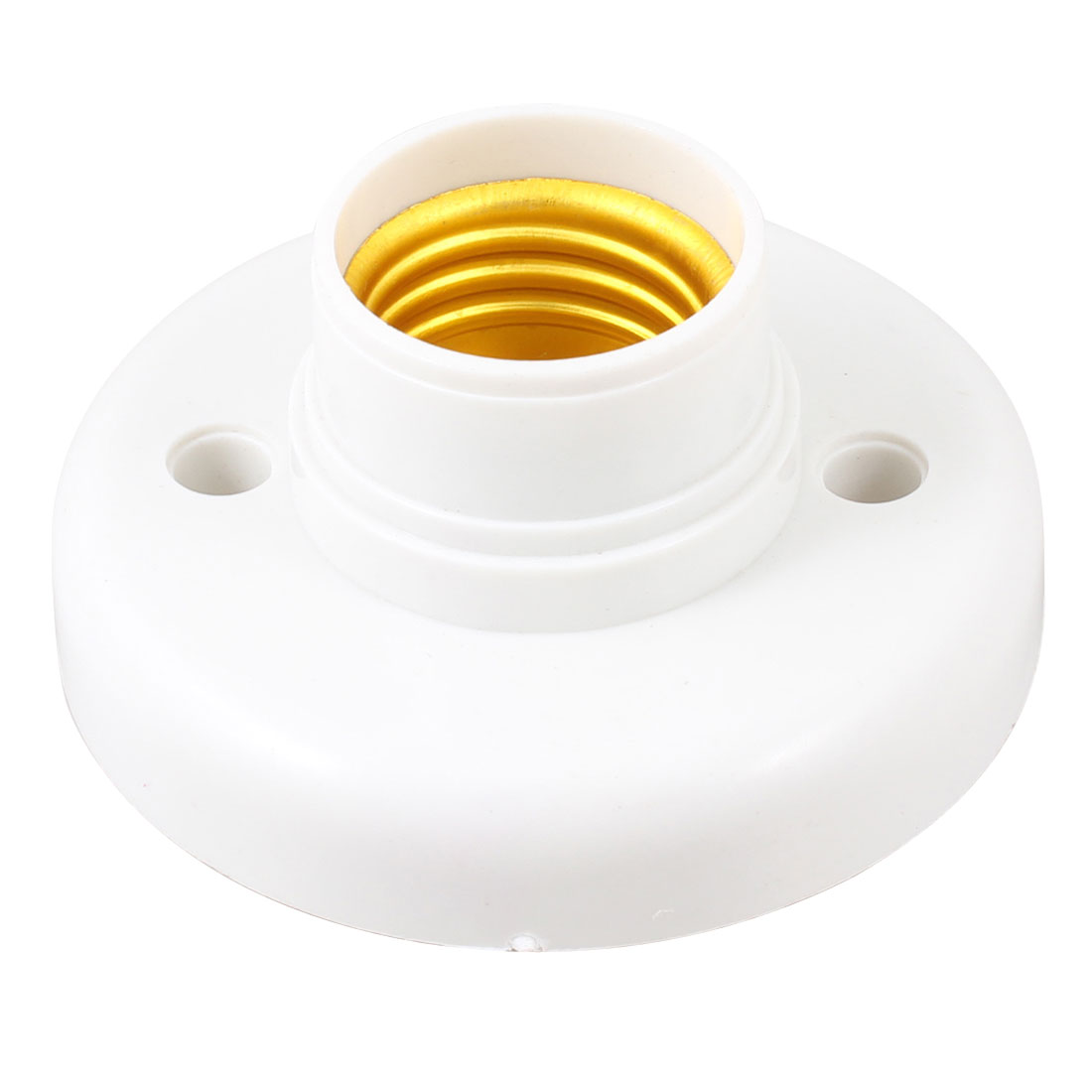 White Plastic Shell E27 Socket Lamp Bulb Holder Convertor AC 220V 60W