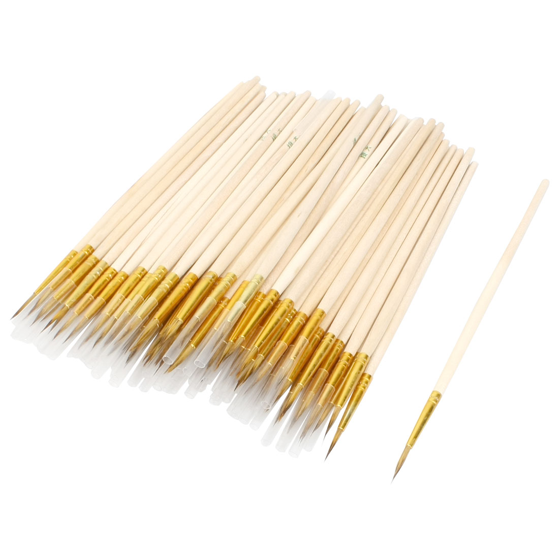 "5.9"" Length Wooden Shaft Chinese Calligraphy Writing Brush 100 Pcs"
