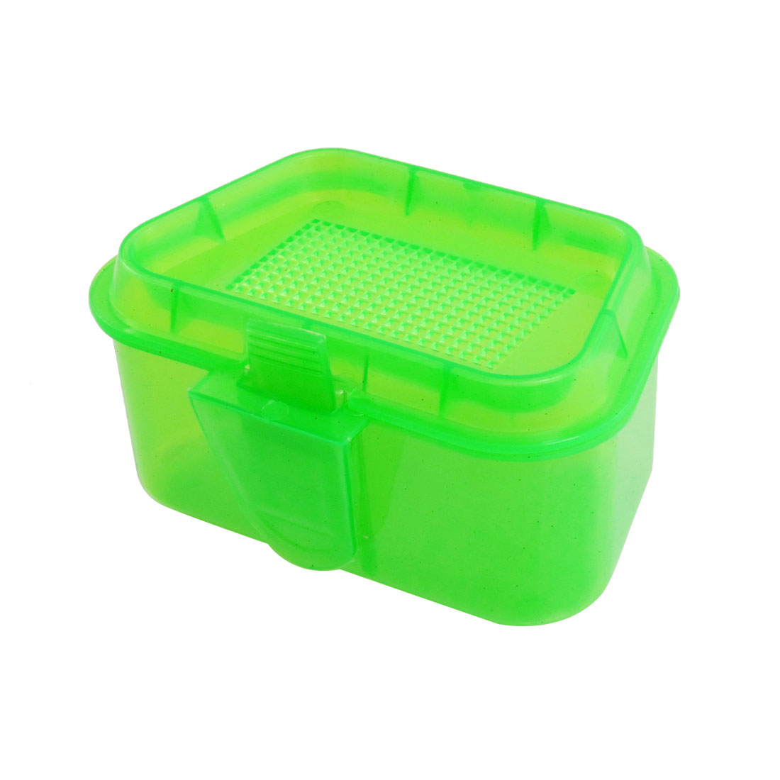 Green Clear Plastic Fishing Lure Hook Holder Storage Case