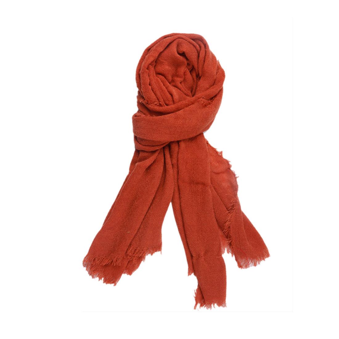 Unisex New Fashion Fringe Decor Winter Rust Knit Wrap Scarf