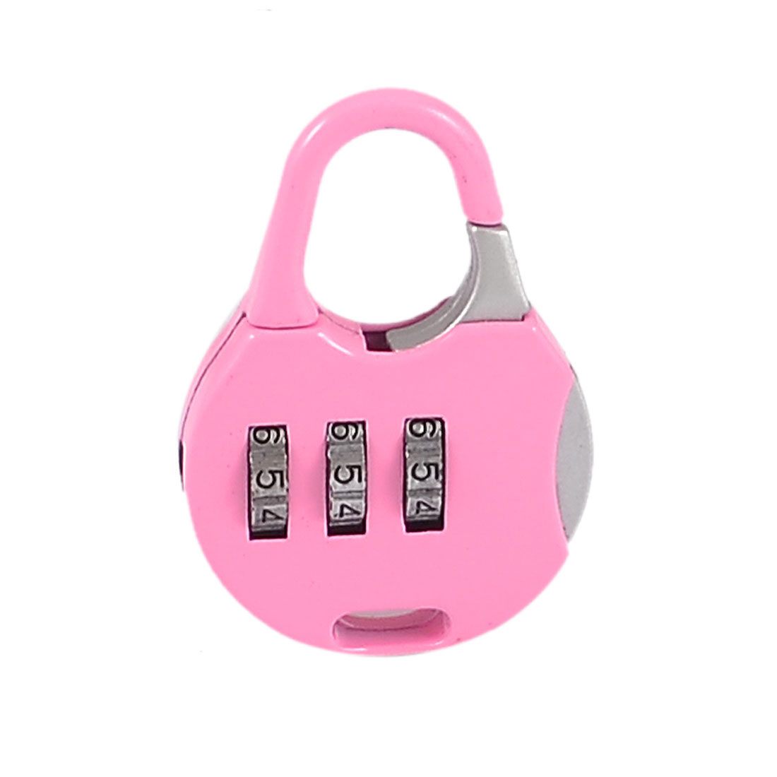 Metallic Pink Handbag Shaped 3 Digit 0-9 Number Combination Lock Padlock