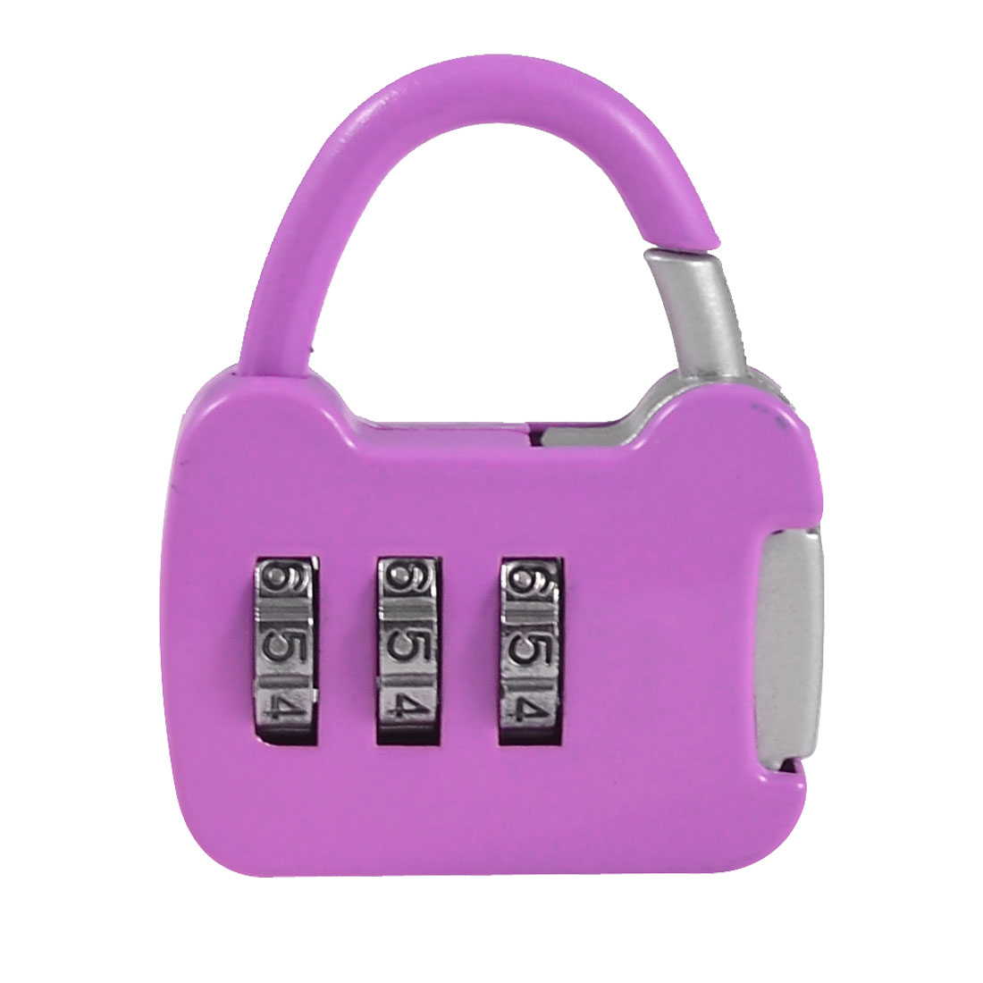 Light Purple Metal Handbag Shaped 3 Digits Combination Password Padlock