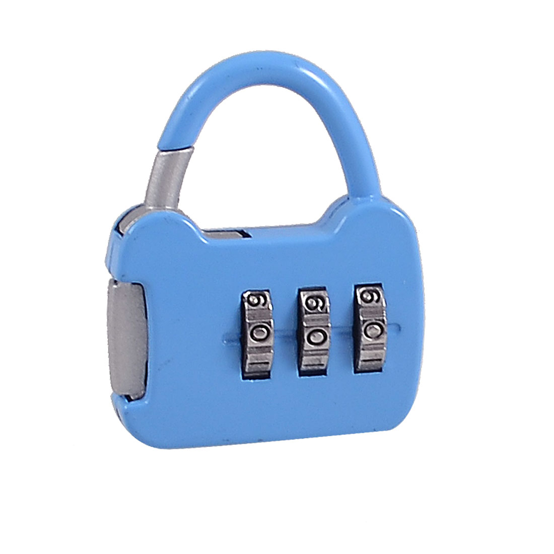 Handbag Shape Three Digits Combination Code Password Padlock Blue