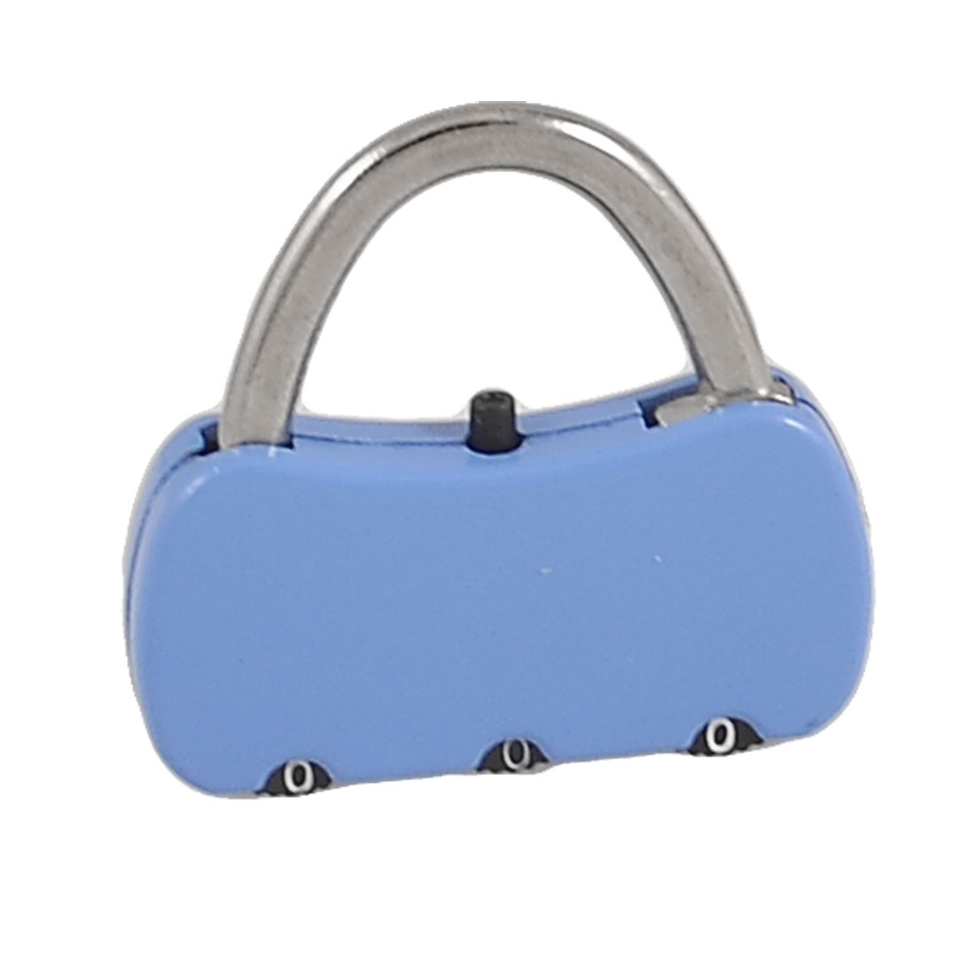 3.8cm x 3.6cm x 0.7cm 3 Digits Resettable Handbag Shape Travel Code Lock Blue