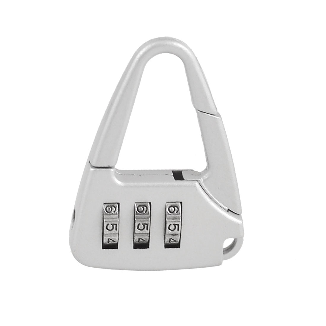 Metal Handbag Shaped 3 Digit Resettable Combination Code Lock Silver Tone
