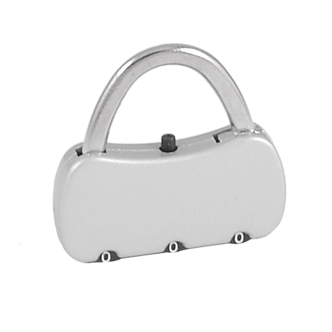 3.8cm x 3.6cm x 0.7cm Jewelry Box Resettable Silver Tone Password Security Coded Lock