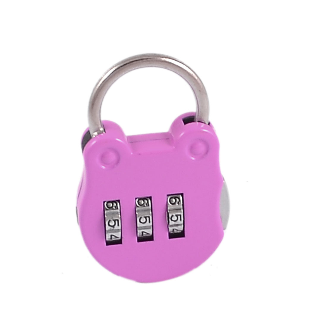 Light Purple Handbag Design 3 Digit Safe Private Boxes Combination Lock Padlock