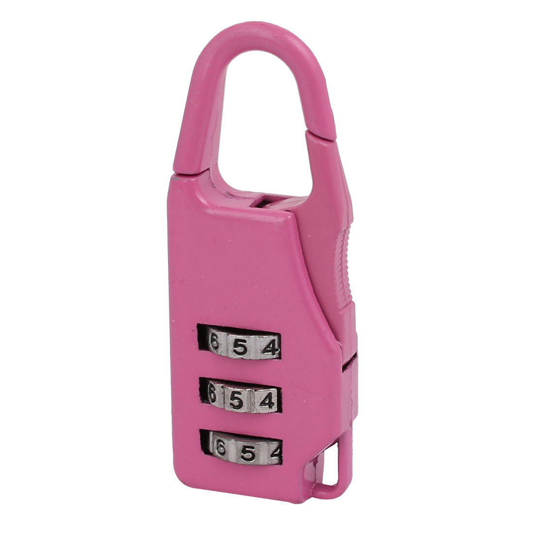 "2 "" Length Metal Handbag Shaped 3 Digit Resettable Combination Lock Pink"