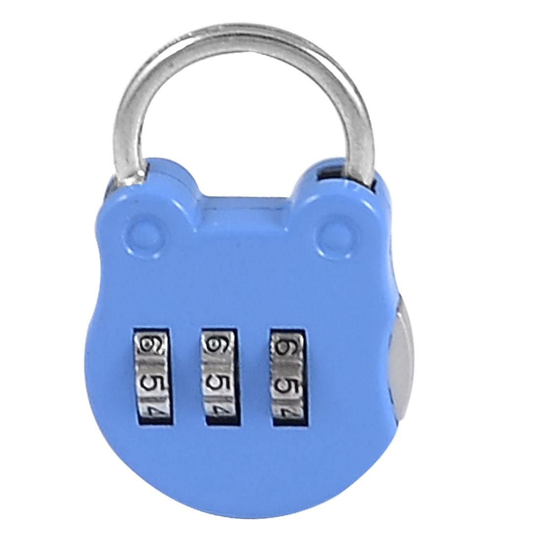 Light Blue Handbag Shaped 3 Digit Safe Private Boxes Combination Lock Padlock