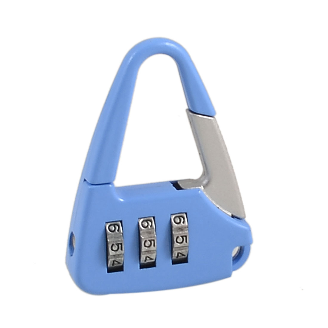 Metal Handbag Shaped 3 Digit Resettable Combination Lock Blue