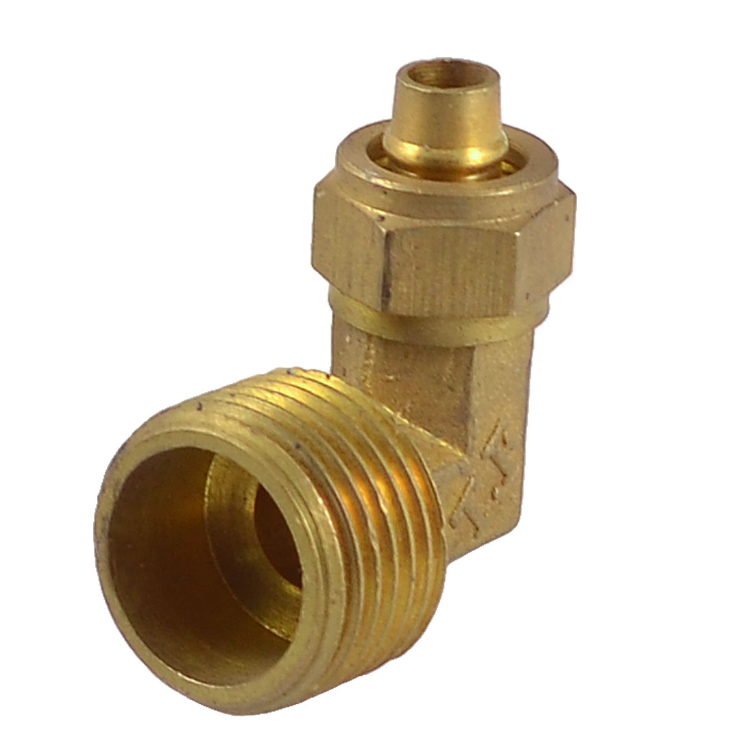 20mm Male Thread 90 Degree Elbow Quick Coupler Connector for 7mmx10mm Tube