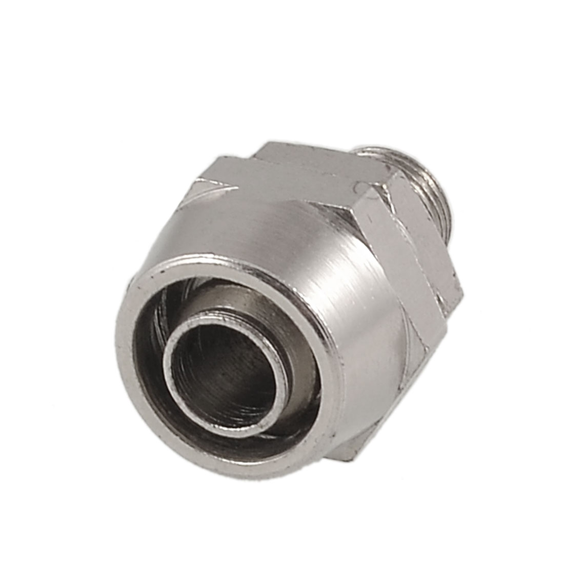 "0.39"" Male Threaded 0.31"" Pipe Air Pneumatic Quick Coupler Connector Silver Tone"