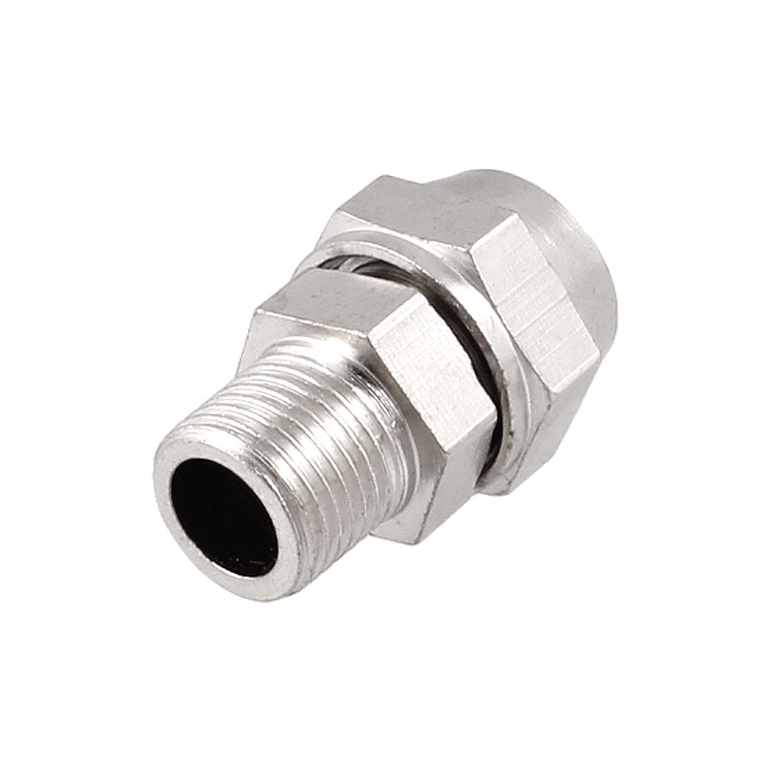 "0.39"" x 0.24"" Pneumatic Air Hose Quick Coupler Connector Fittings Silver Tone"
