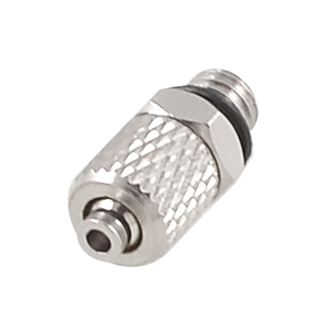 "Silver Tone Metal 0.197"" Male Thread 0.118"" Hose Quick Joint Connector"