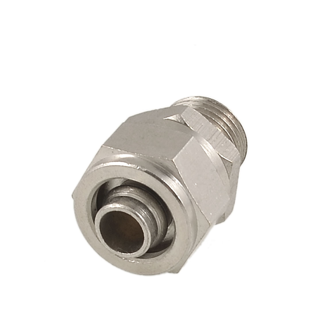 "0.51"" Male Threaded 0.31"" Pipe Air Pneumatic Quick Coupler Connector Silver Tone"