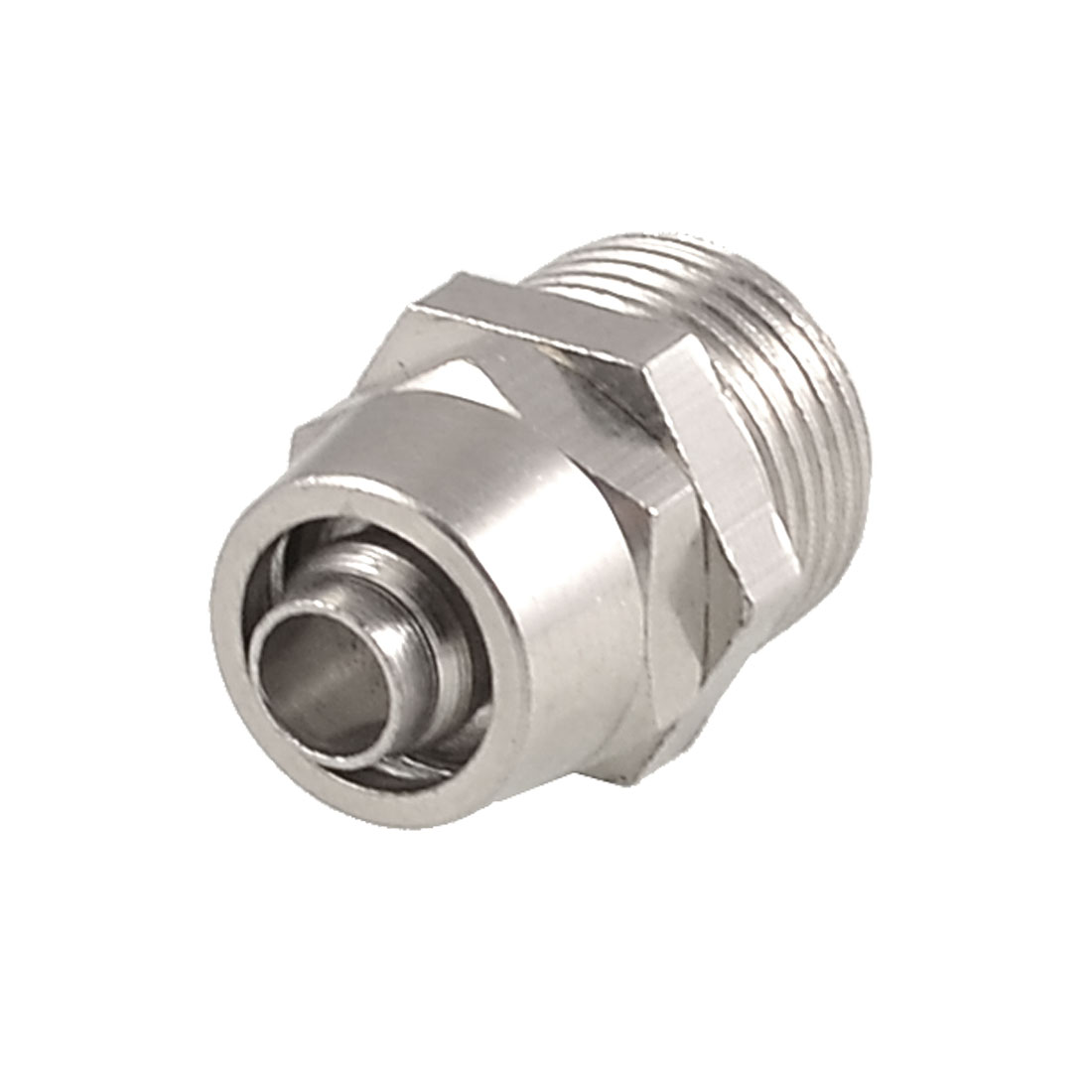 "0.51"" x 0.28"" Pneumatic Air Hose Quick Coupler Connector Fittings Silver Tone"