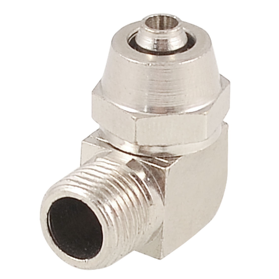 6mm Tube 9.5mm Thread L Shaped Right Angle Quick Coupler Adapter