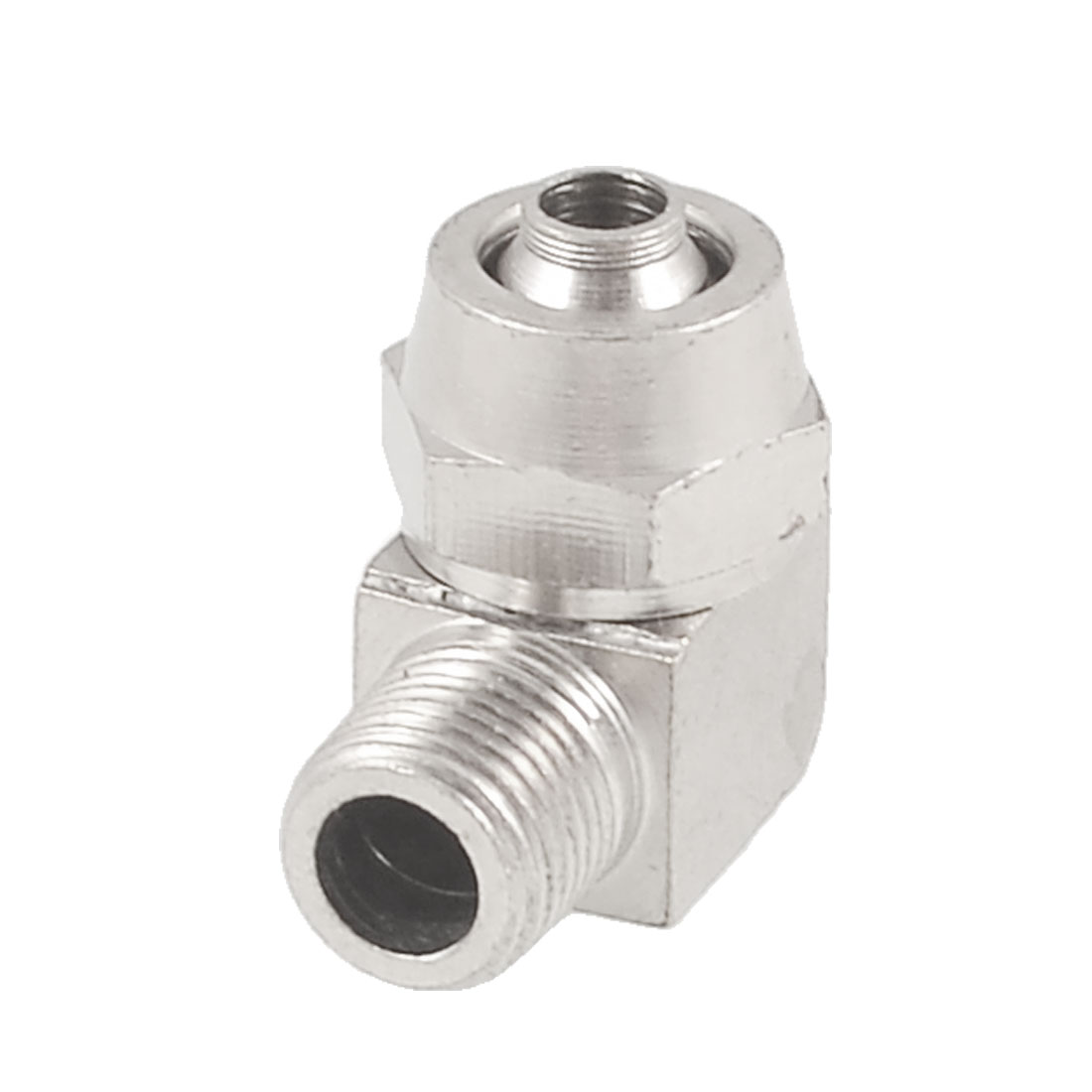 8mm Tube 10mm Thread L Shaped Right Angle Quick Coupler Fittings