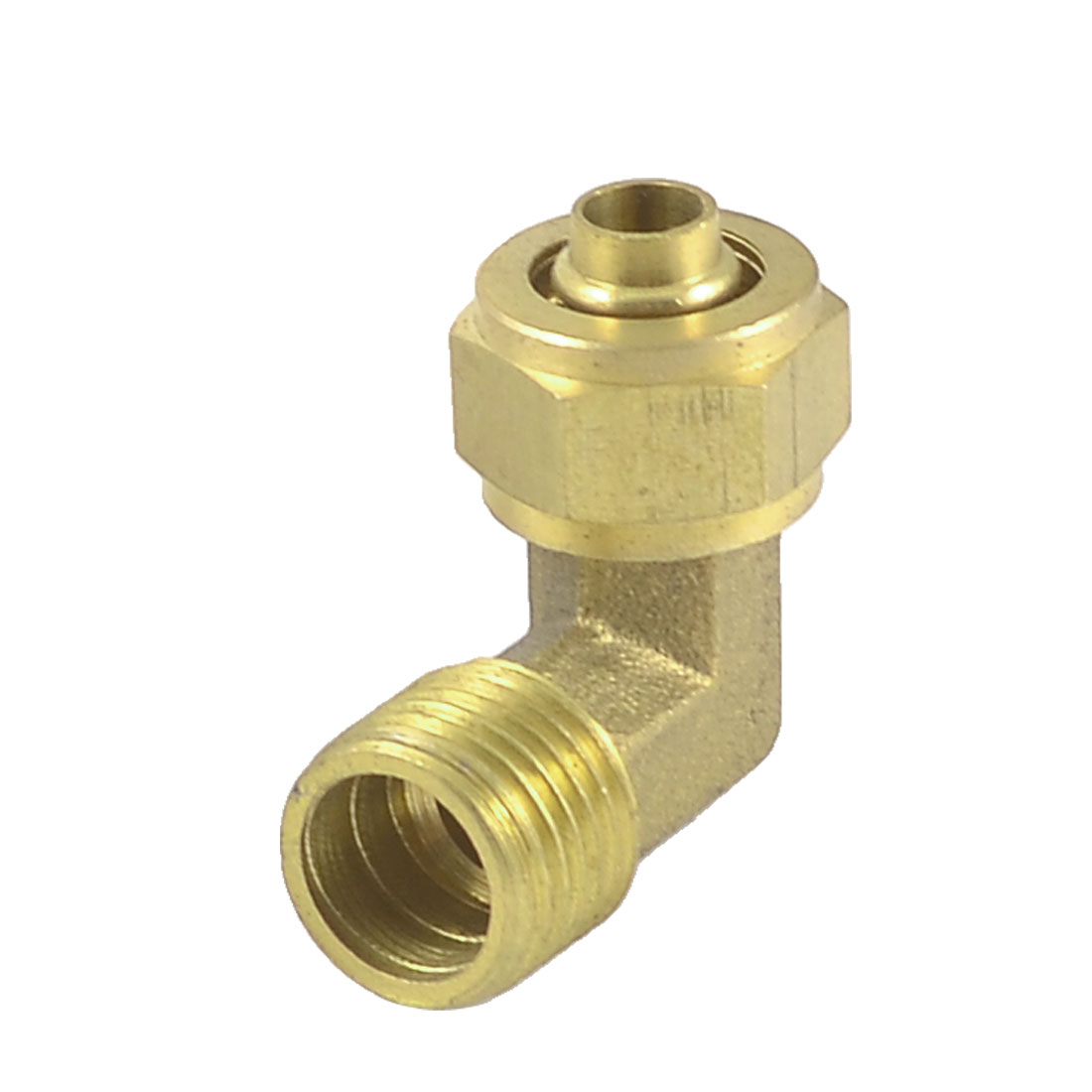 6mmx10mm Tube 13mm Male Thread L Shaped Elbow Quick Coupler Fittings