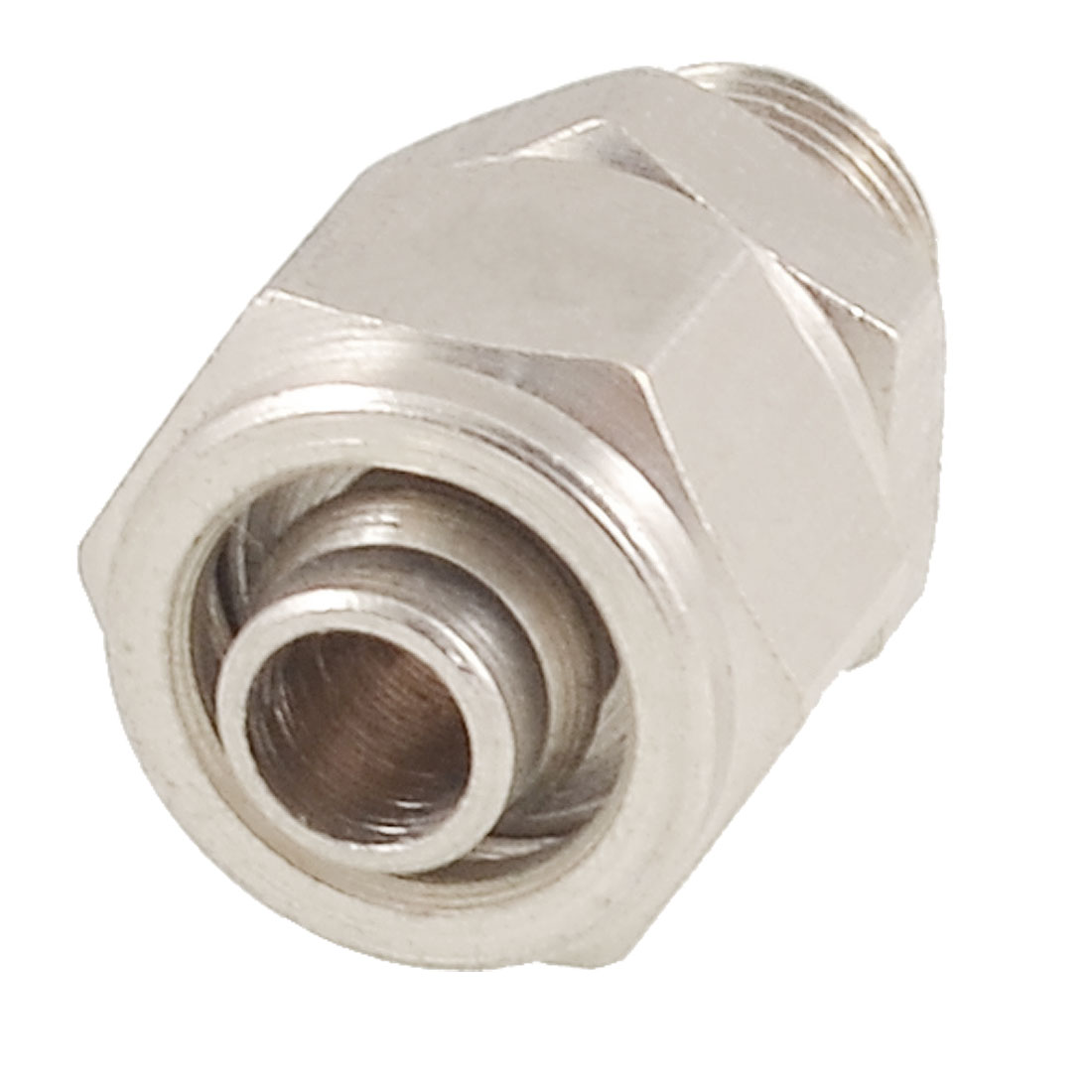 "0.35"" Male Threaded 0.28"" Pipe Air Pneumatic Quick Coupler Connector Silver Tone"