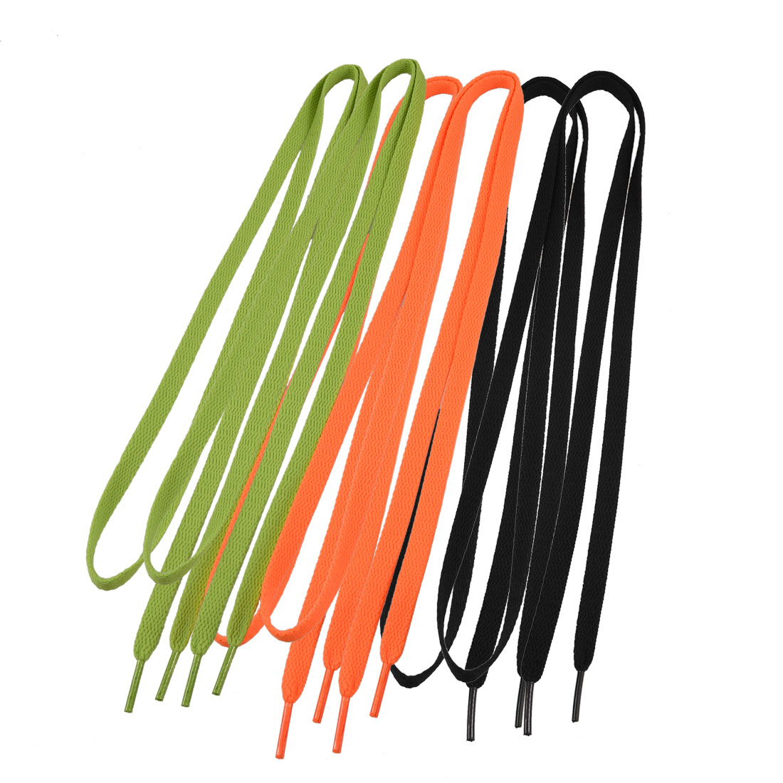 "3 Pairs Colored Flat Strings 0.35"" Wide Shoelaces for Sports Shoes"