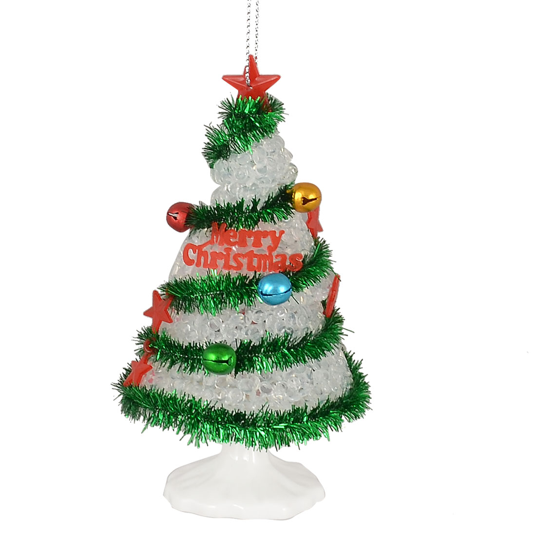 Changing 6 Colors LED Light Plastic Mini Xmas Tree Design Christmas Tree Decoration