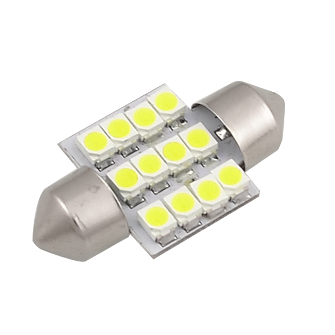 "White 1.25"" 31mm 12-SMD DE3175 DE3022 LED Bulbs For Car Dome Lights"