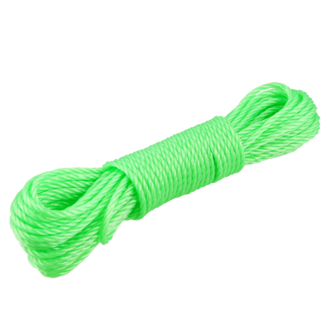 32Ft Length Clothes Hang Rope Nylon String Clothesline Lime Green