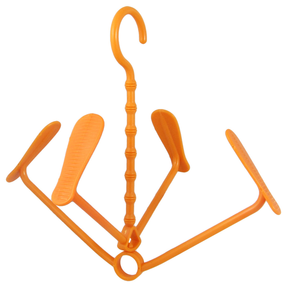 Flexible Plastic Shoes Drying Rack Shelf Hanger Hook Orange