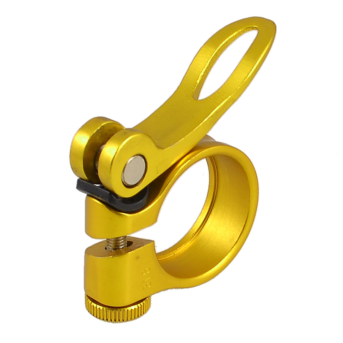 Bicycle Saddle Seat Mount Bracket Seatpost Post Clamp Clip Gold Tone