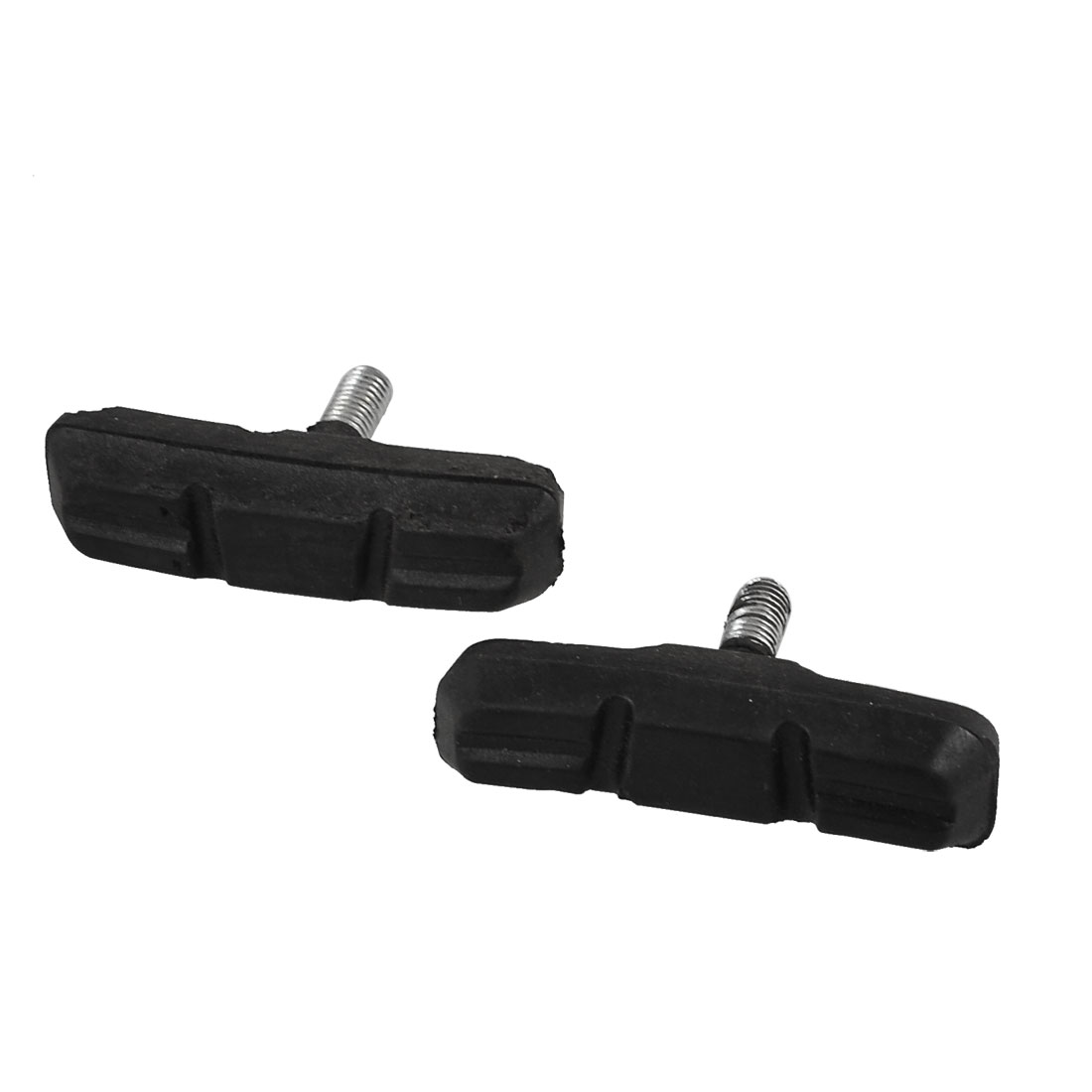 Pair Mountain Bicycle Bike 6mm Thread Black Rubber Brake Pads