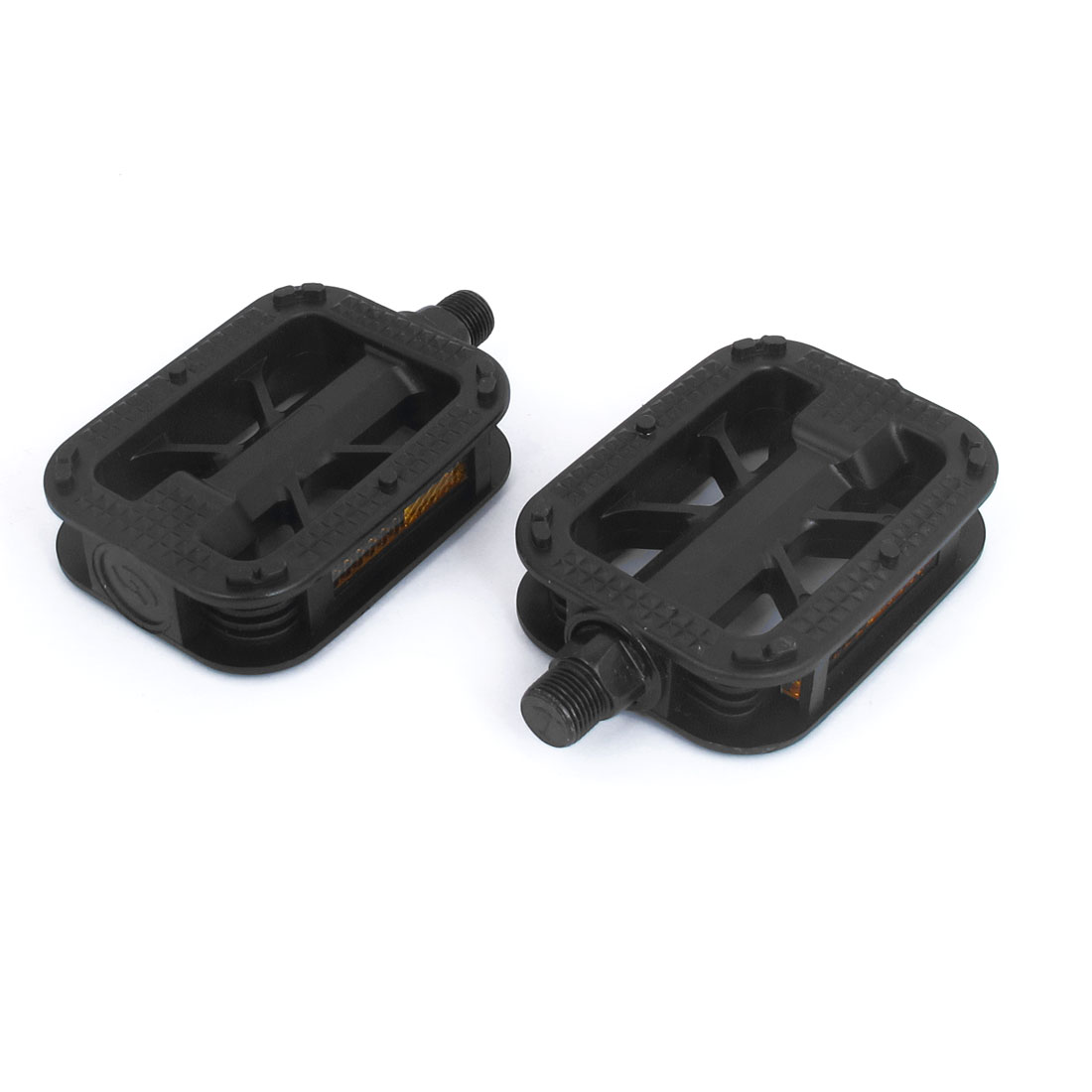 Mountain Road Bike Black Yellow Right Left Plastic Platform Pedals