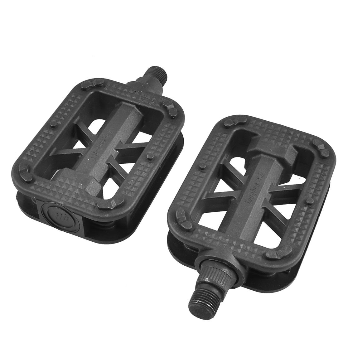 Mountain Road Bike Black Yellow Anti Slip Plastic Platform Pedals