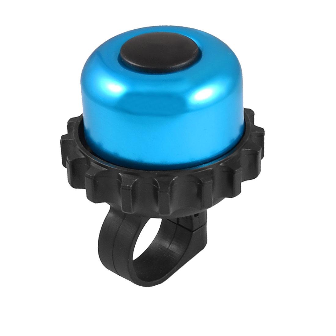 Cyan Black Bike Bicycle Rotatable Warning Bell for 22mm Dia Handlebar