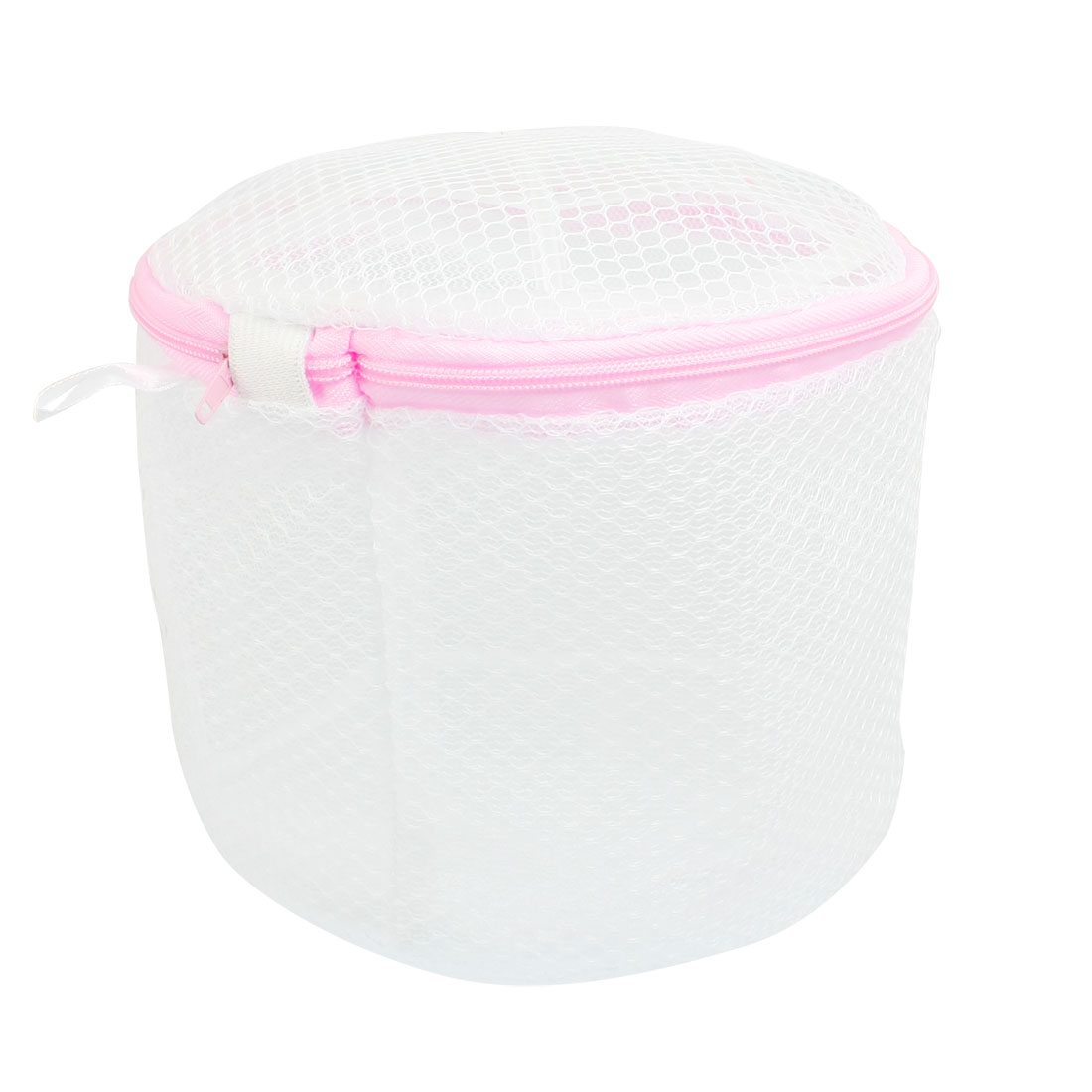White Pink Underwear Stockings Folding Mesh Bag Holder Basket