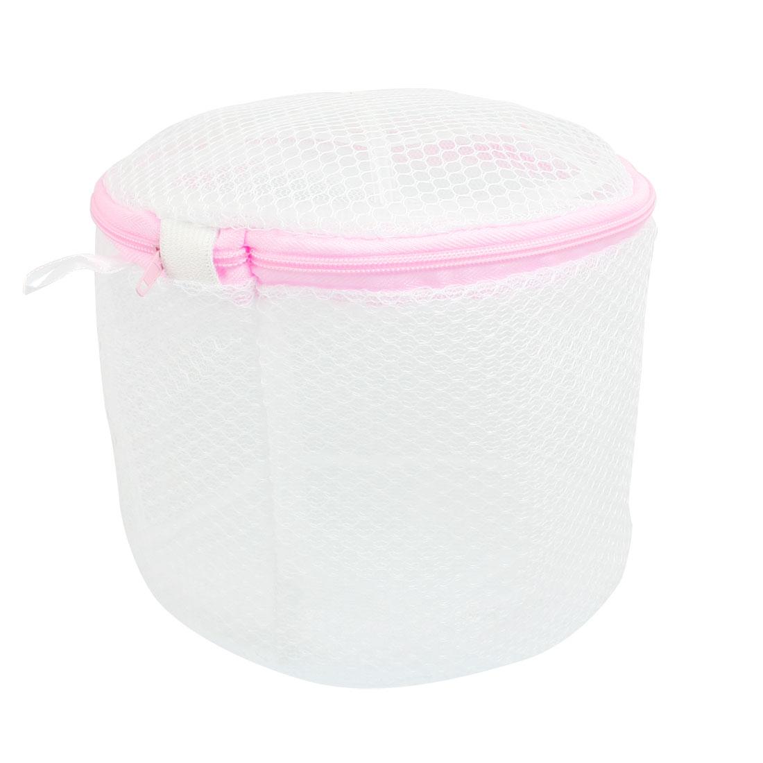 White Pink Underwear Stockings Folding Mesh Bag Holder Basket