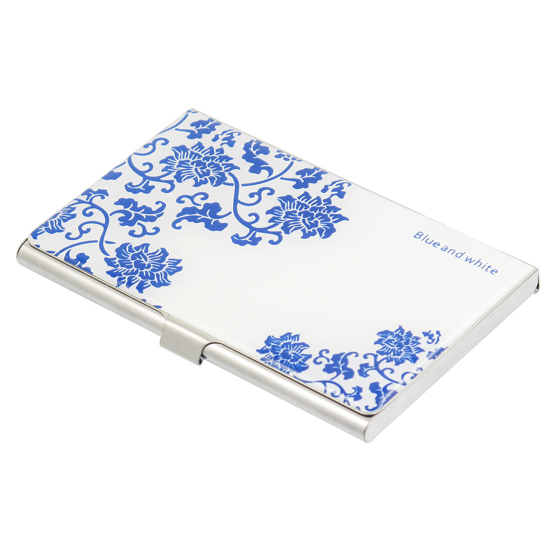 Blue and White Porcelain Pattern Business ID VIP Name Card Box Holder