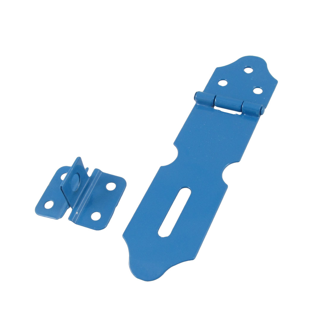 "Drawer Cupboard Doors Metal Latch Staple 5"" Hasp Set Blue"