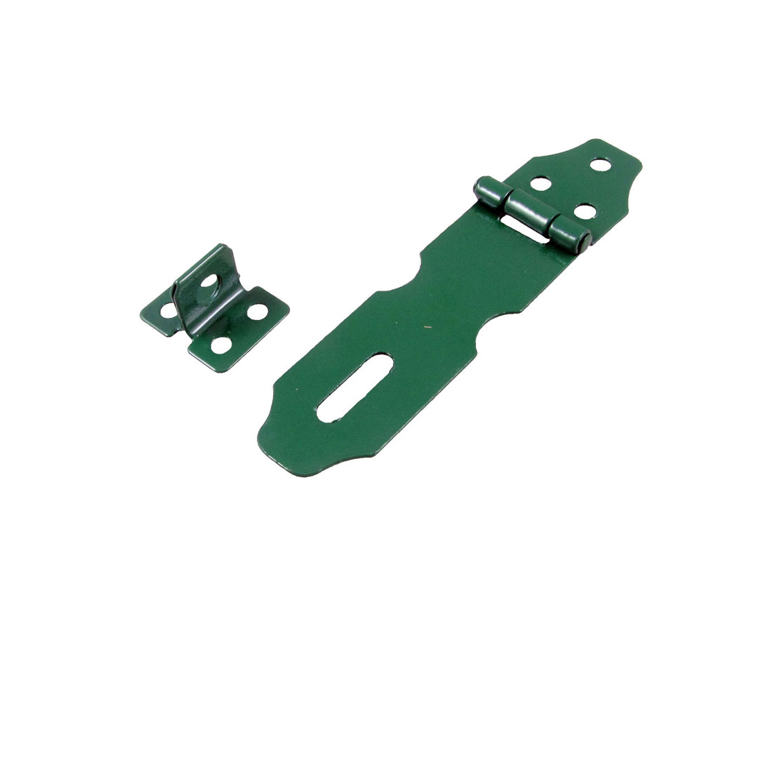 "Green Metal Cabinets Gates Padlock Latch Door 4"" Hasp Staples"