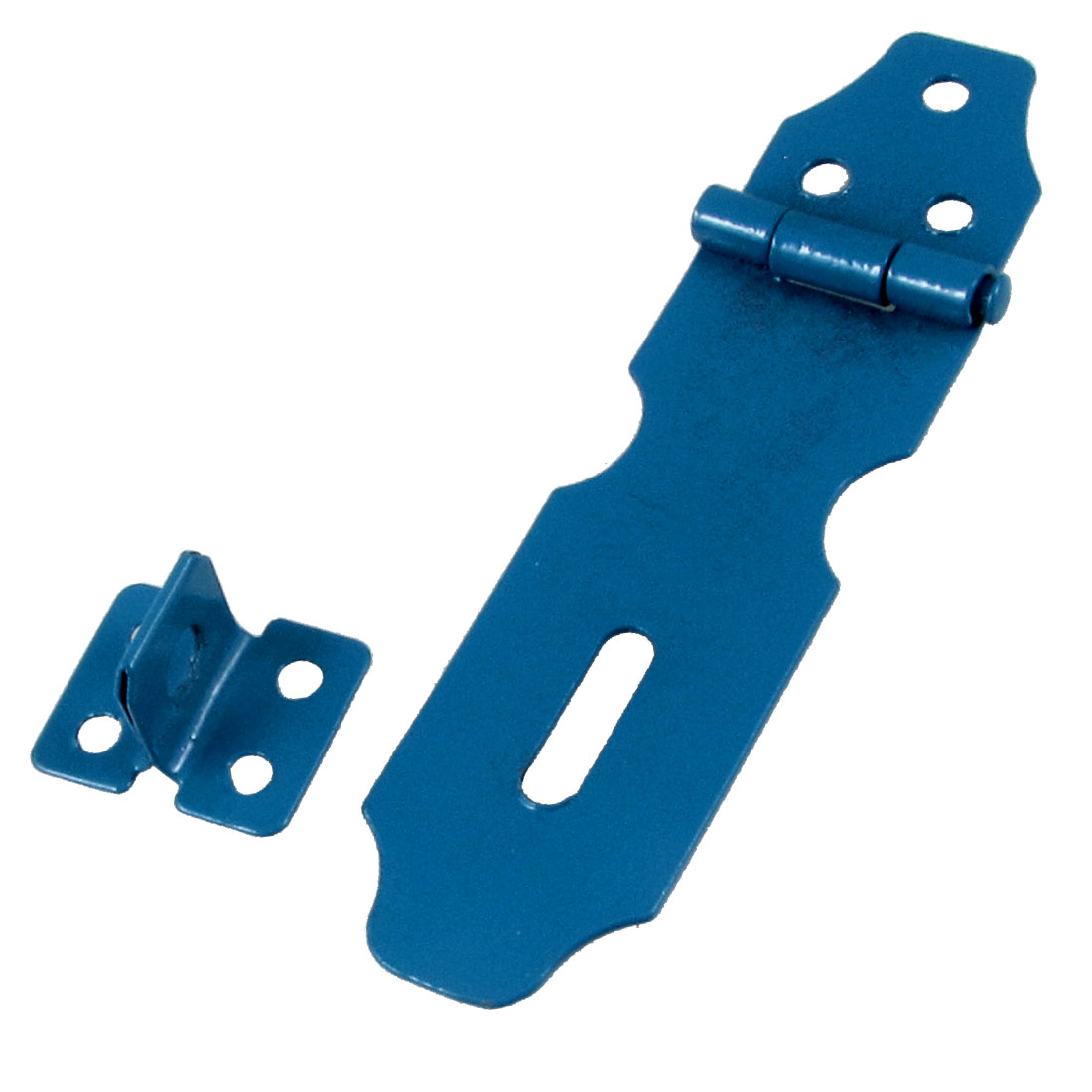Blue Metal Cabinets Gates Padlock Latch Door Hasp Staples