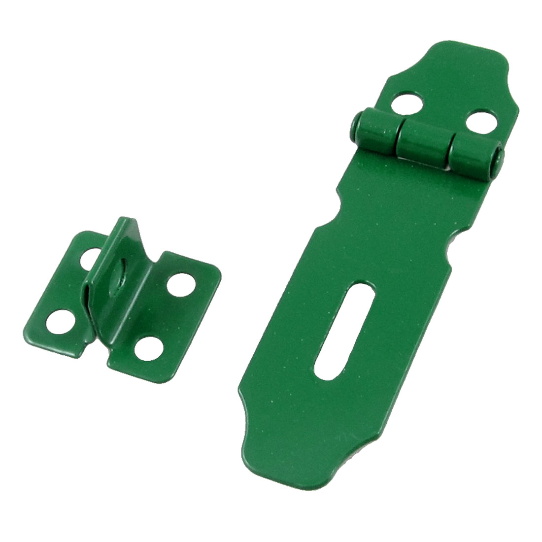 "Green Metal Drawer Cabinet Gate Padlock Latch Door 3"" Hasp Staple"