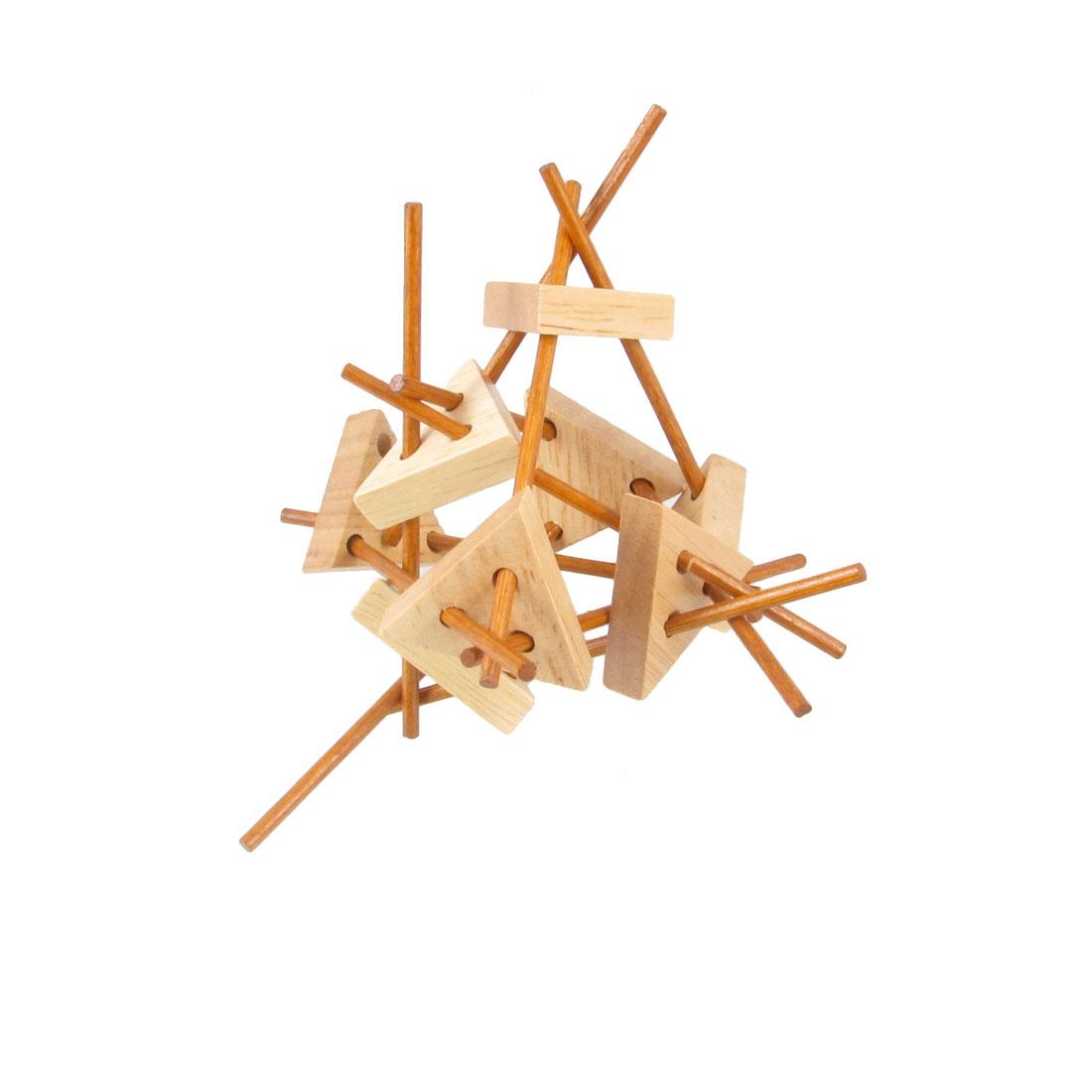 Child Kid Brain Train Restore Wooden Intelligence Puzzle Toy Plaything Present