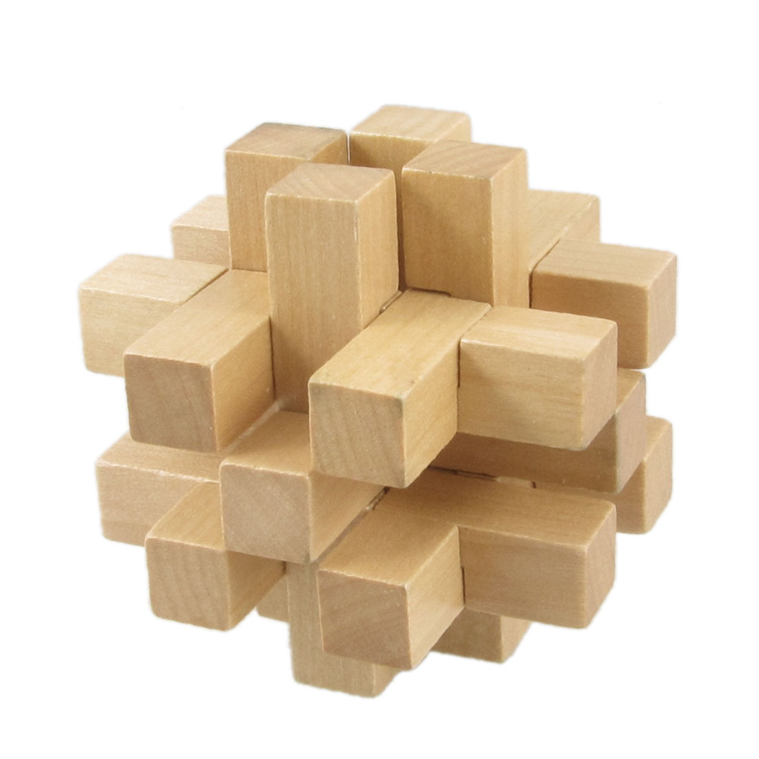 Kid Brain Train Wooden Intelligence Puzzle Toy Educational Assembly Gift