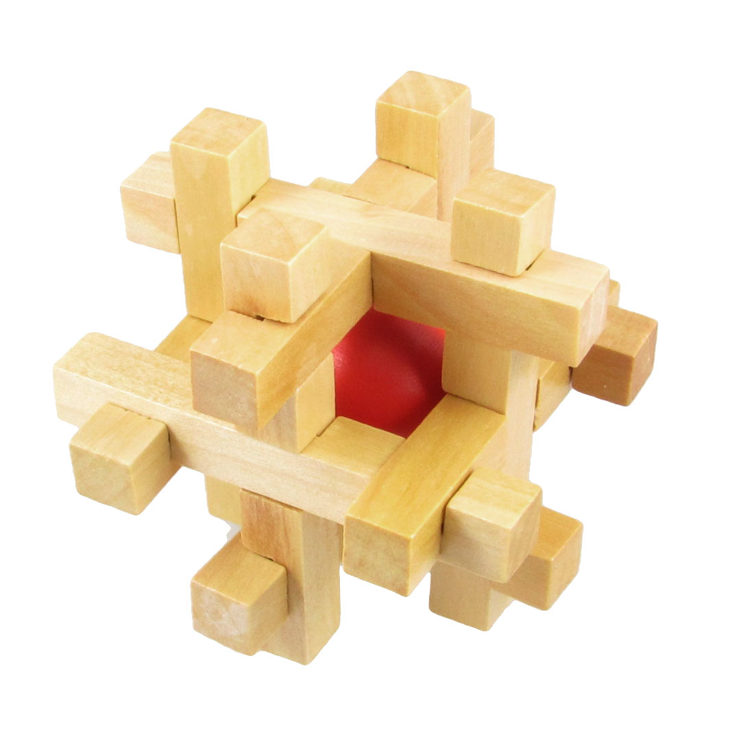 Children IQ Testing Disconnect Wooden Intelligence Puzzle Toy Gift