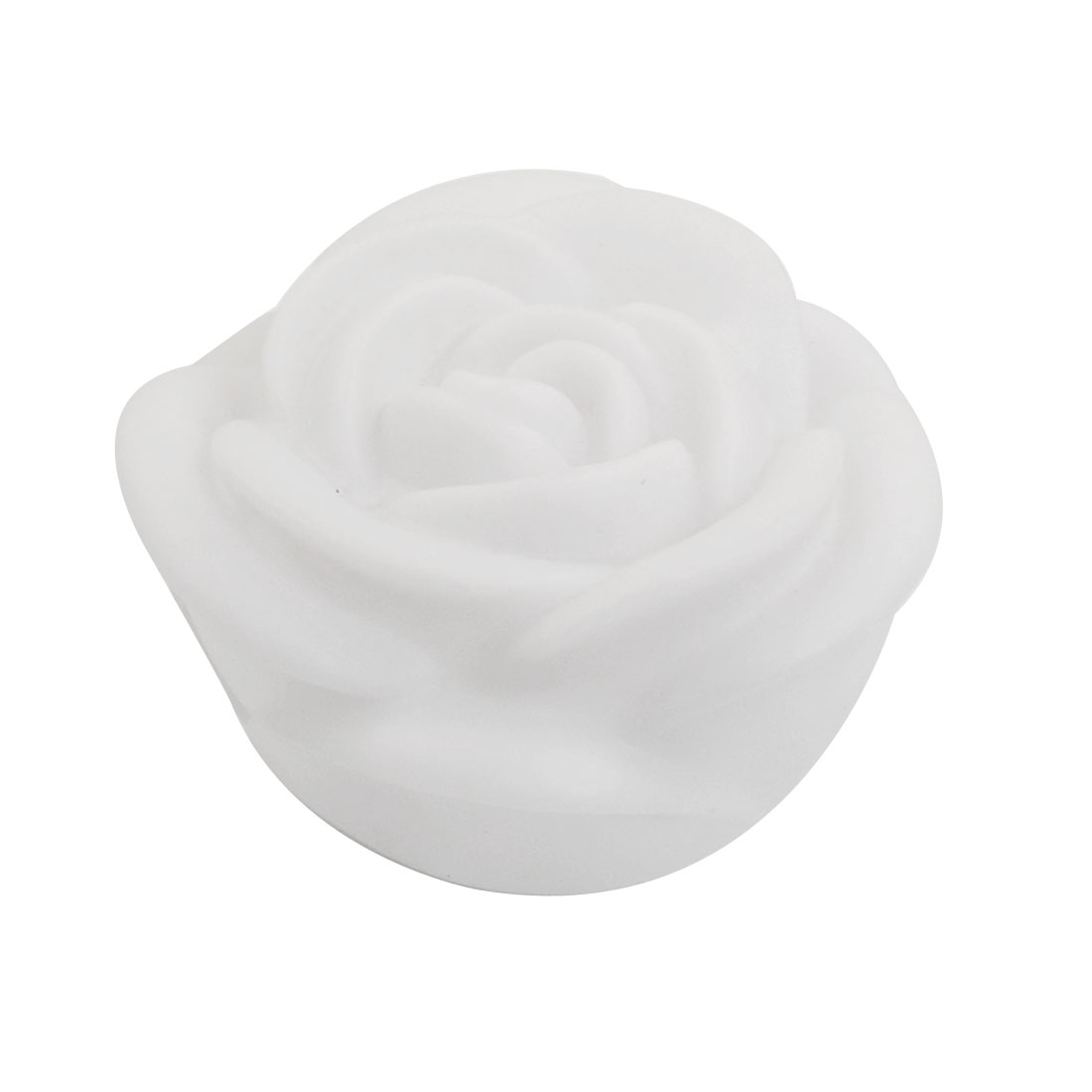 White Plastic Rose Design Color Changed Electronic LED Night Light