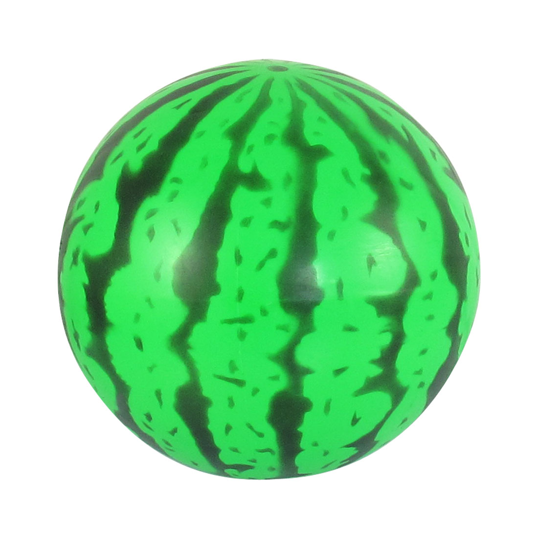 "Children Kid Gift PVC Watermelon Pattern Ball Toy 4.5"" Dia Green Black"