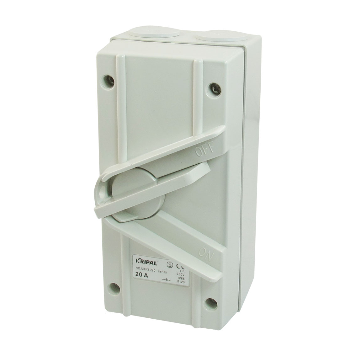 AC 250V 20A IP66 2-Postion OFF/ON DPST UKF3-220 Weatherproof Isolating Switch