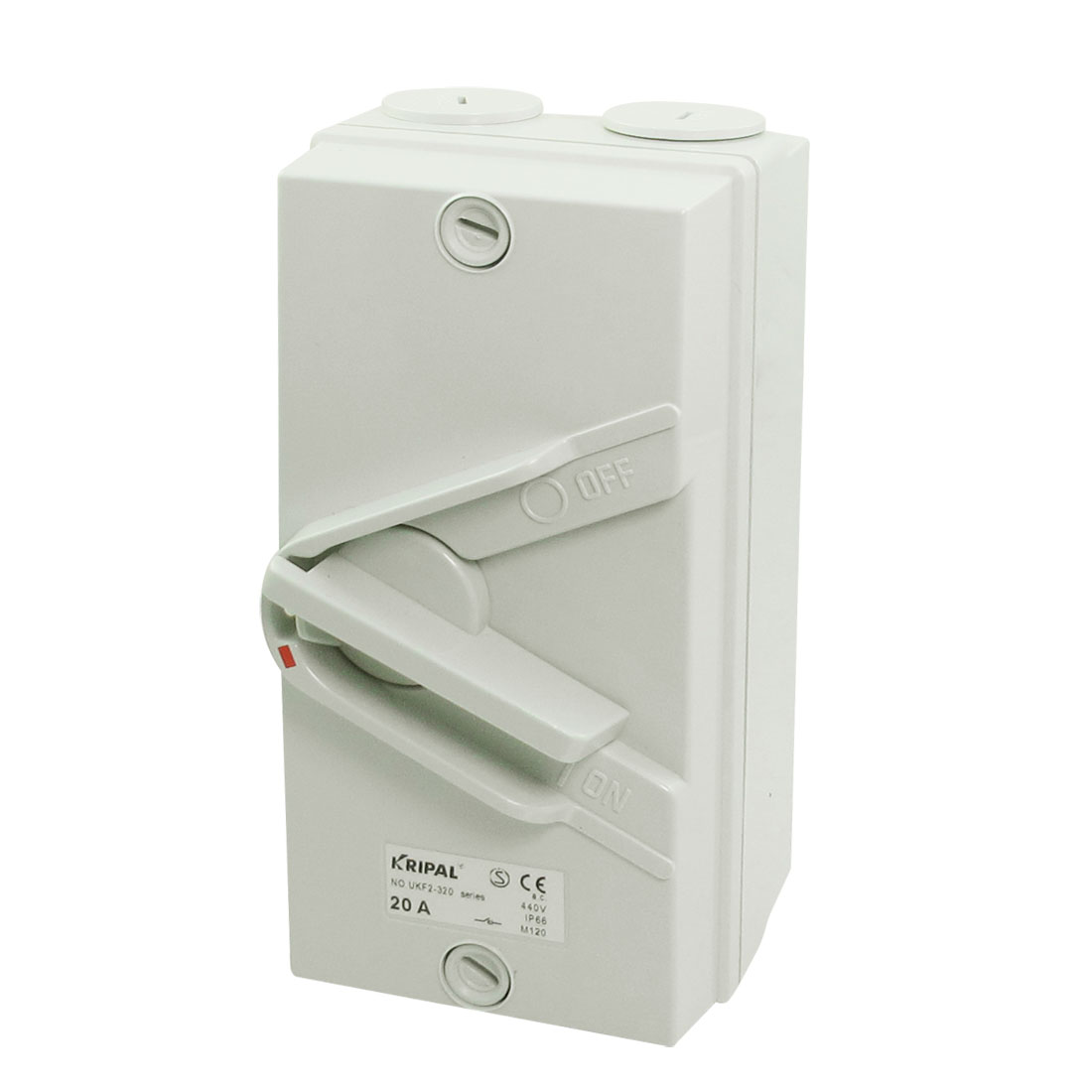 2-Postion Triple Pole IP66 Weatherproof Surface Isolatoion Switch AC 440V 20A