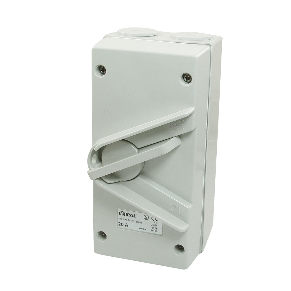 AC 250V 20A IP66 2-Postion OFF/ON SPST UKF1-120 Weatherproof Isolating Switch