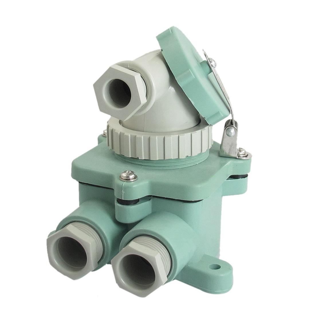 AC 250V 20A 2 Pole Water Resistant Marine Connector Socket Set Z-M/T-MB